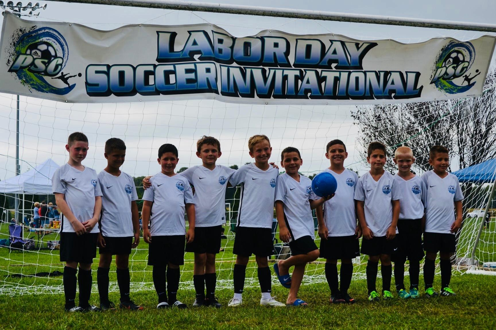 Congratulations to U9  Boys Monroe United 2010 Champions