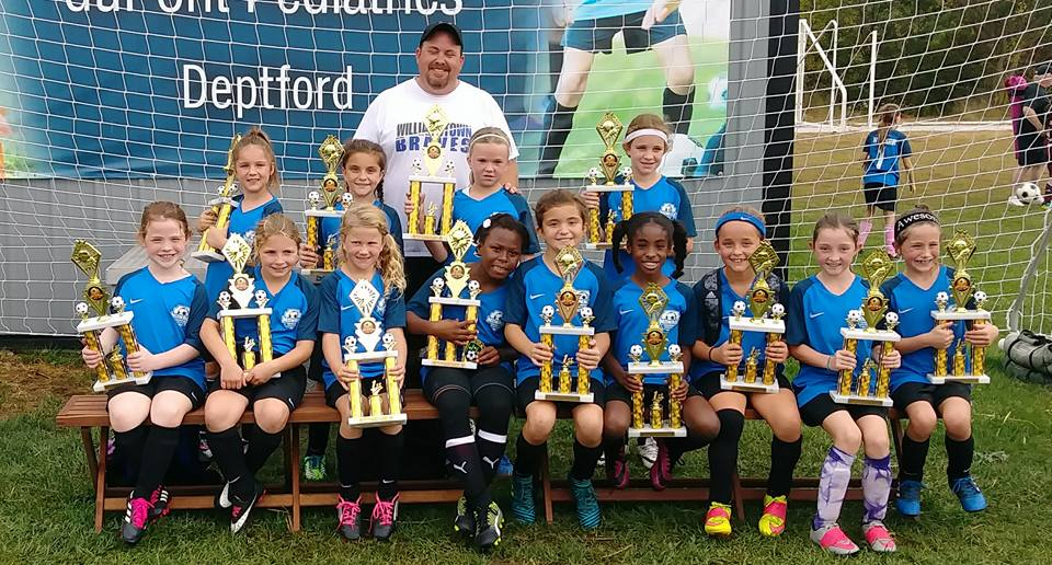 Congratulations to Monroe United 2008 Girls (White) U10 Deptford Fall Festival Tournament Champions